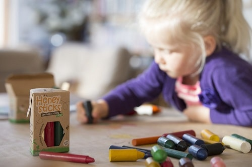 Best Toys for 1 Year Old, the lot dallas, Honeysticks-Beeswax-Crayons