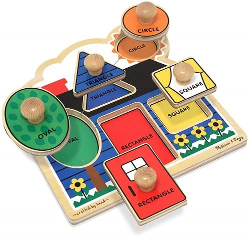 Best Toys for 1-Year-Old, the lot dallas, Melissa-Doug-Knob-Puzzle