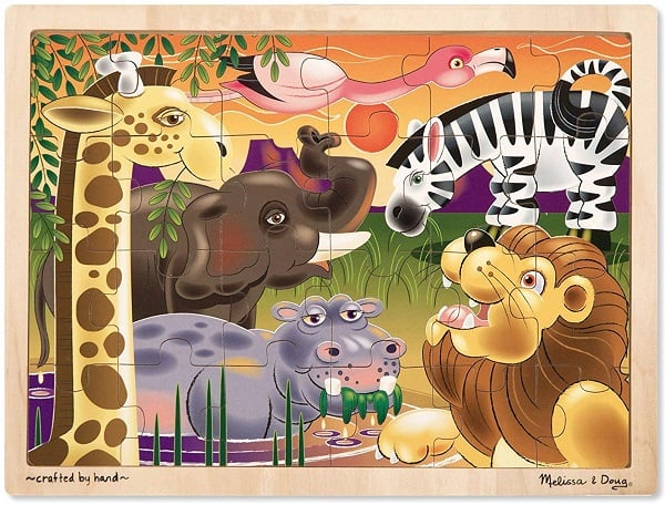 Best Toys for 3-Year-Olds, the lot dallas, Melissa-Doug-Wooden-Jigsaw-Puzzle-zoo