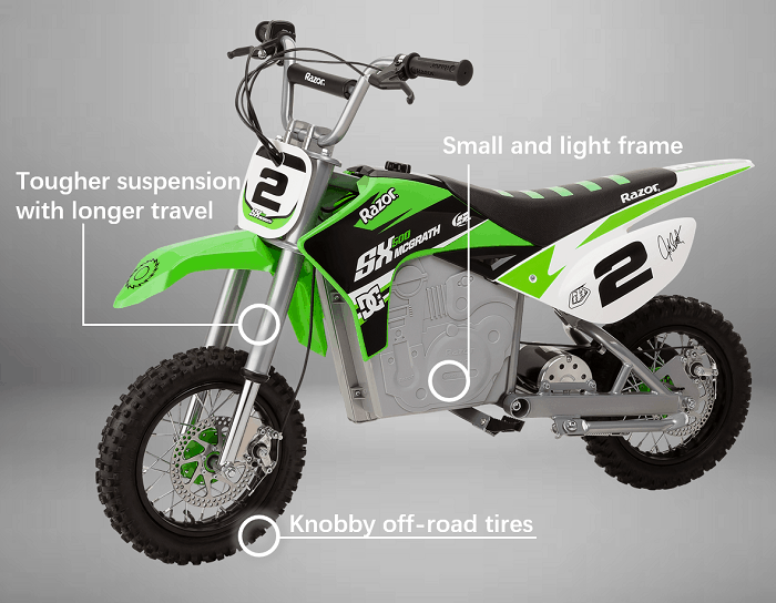 best dirt bikes for kids typical