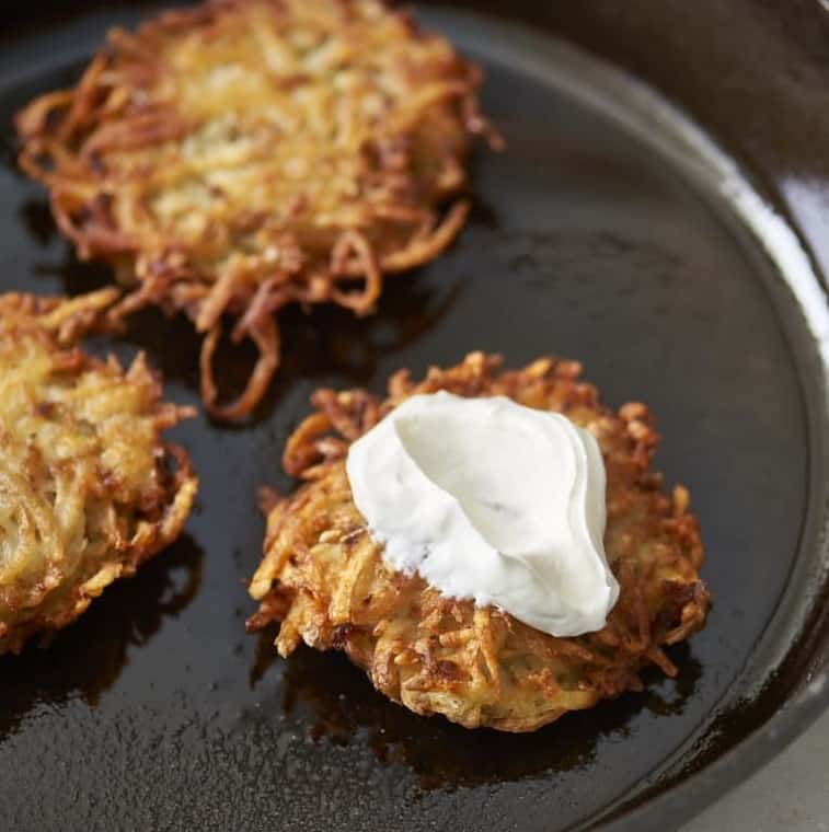 Food That Starts with L, the lot dallas, latkes