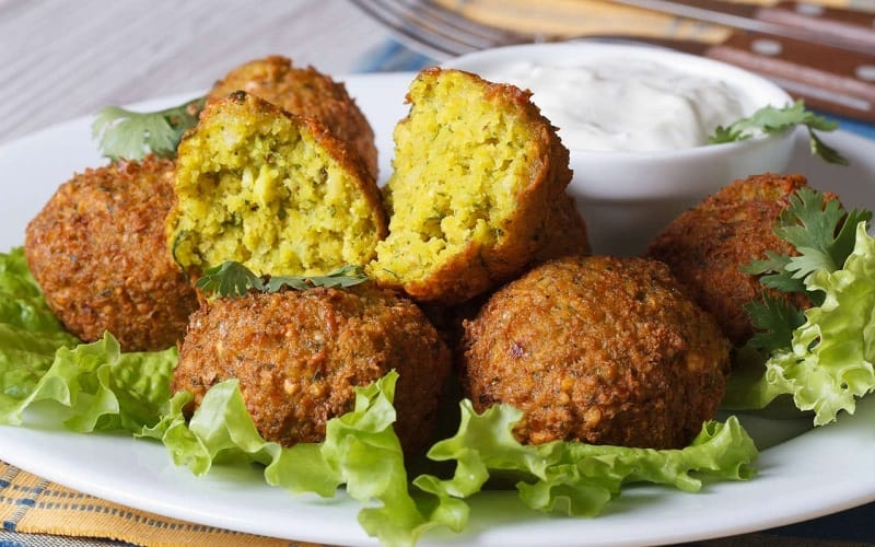Food that starts with F, the lot dallas, Falafel